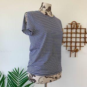 A.P.C. Striped Split Sleeve T-Shirt